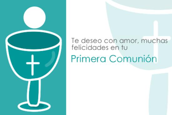 Conmemorando la temática de las dedicatorias de comunión , te