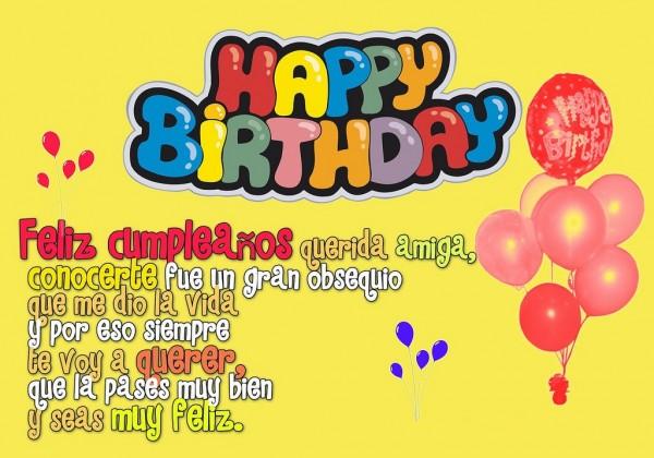 dedicatoria de cumpleaños para una amiga