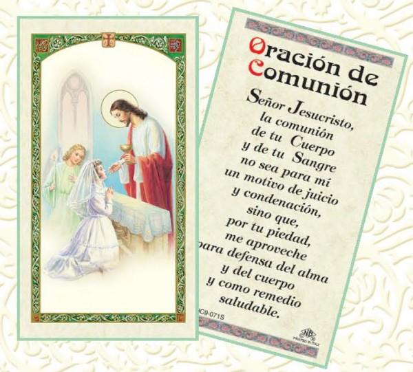 oración de dedicatoria de primera comunión