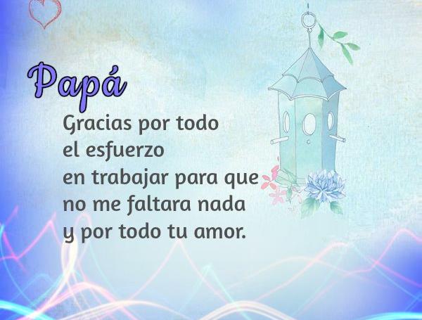dedicatorias y agradecimientos de amor para papá