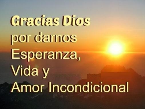 Agradecimiento para Dios