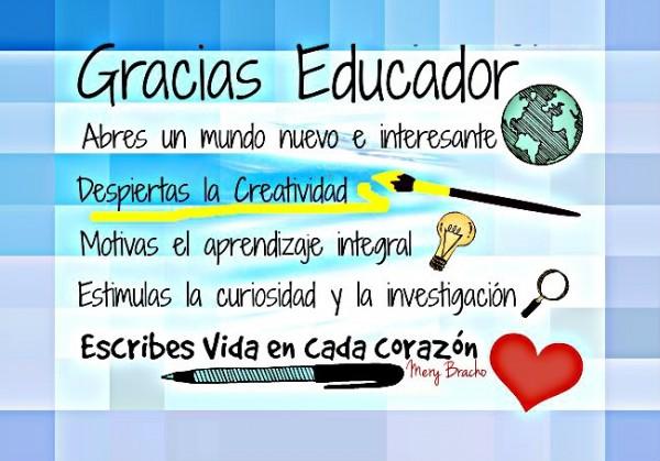 agradecimiento para educador