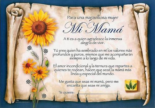 tarjetas de dedicatoria a una madre