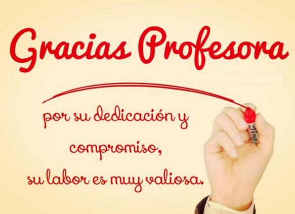 dedicatoria para una profesora