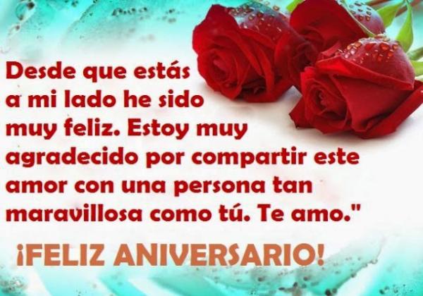 Feliz Aniversario Amor Frases: Dedicatoria De Amor Para Aniversario